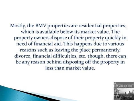 benefits of investing in below market value property