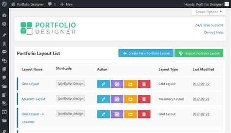 wordpress layout design plugin portfolio designer responsive wordpress portfolio plugin