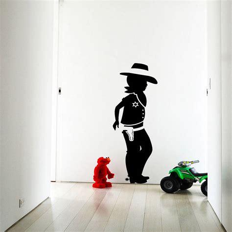 cowboy wall stickers cowboy wall sticker decal by snuggledust studios notonthehighstreet