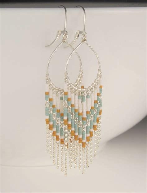 On Sale Long Beaded Earrings Chandelier Earrings In Bead Chandelier Earrings