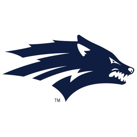 logo university of nevada reno wolf pack wolf head fanapeel