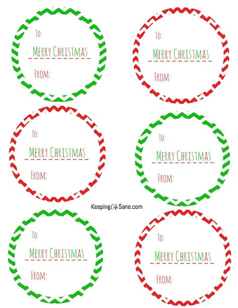 free printable christmas gift tags keeping life sane