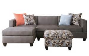 3 small space reversible grey microfiber sectional
