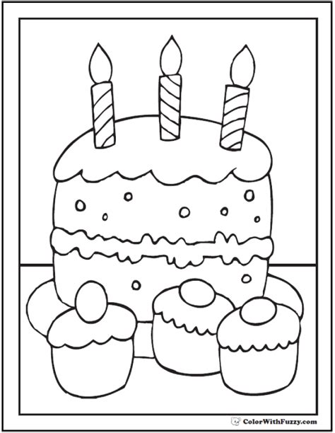 cake coloring pages pdf 40 cupcake coloring pages customize pdf printables
