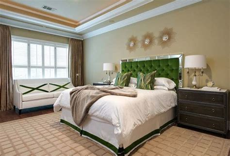 green headboards green tufted headboard transitional bedroom ej interiors