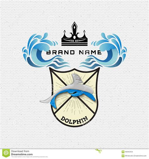 labelling logo use labelling logo use pefc dolphin badges logos and labels for any use stock vector