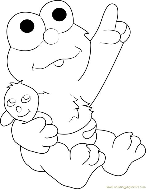 coloring pictures of baby elmo baby elmo coloring page free sesame street coloring