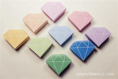 Contact Origami - free printable origami box tutorial paper kawaii