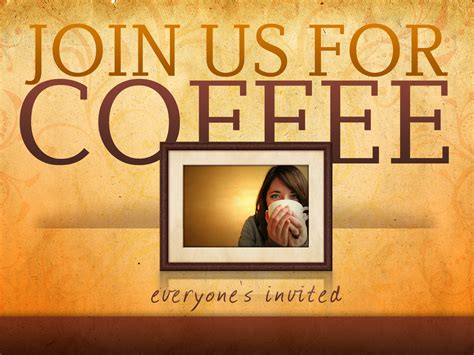 Join Coffee join us for coffee t