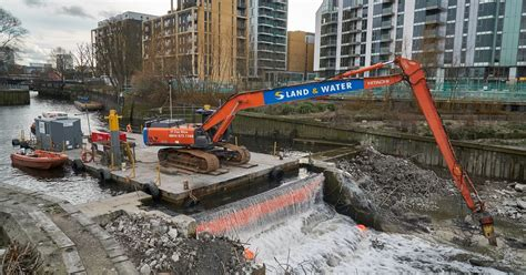 Wandle Messing by Captain Jp S Log Removing The Wandle Half Tide Weir