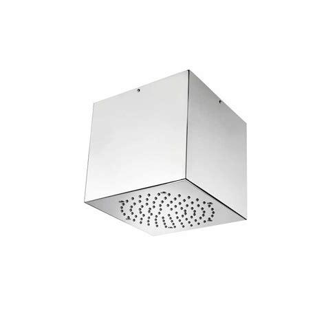 soffione doccia a soffitto soffione doccia a soffitto acciaio inox bossini cube