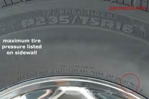 Car Tires Pressure Recommended Number On The Sidewall Myth Nitrogen Tire Inflation