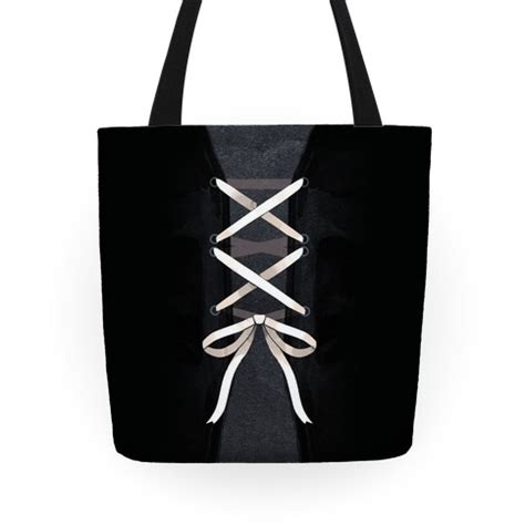 design by humans laced up lauren laced up corset tote bag lookhuman