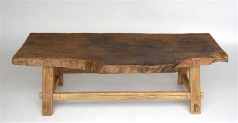 One Wide Board Elm Wood Coffee Table With Live Edge For Wide Coffee Tables