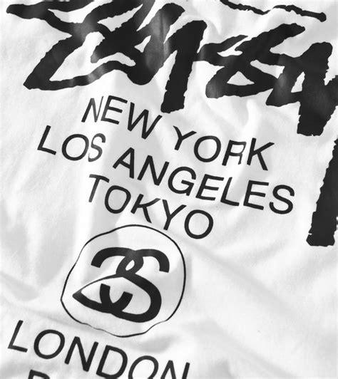 Tshirt Raglan Stussy stussy world tour baseball raglan t shirt size