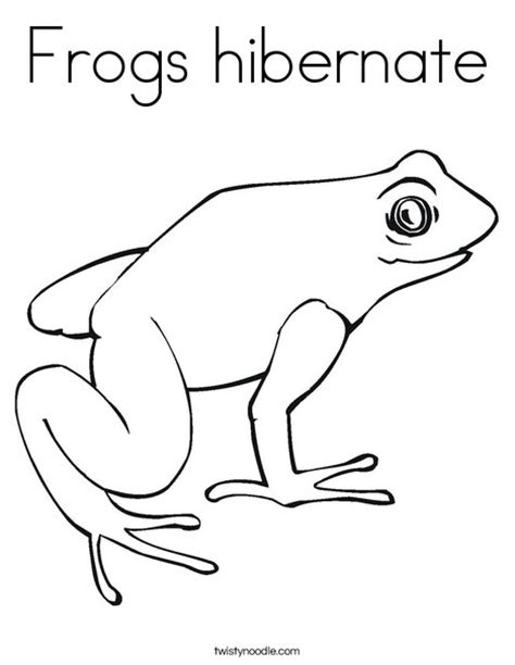 coloring sheets of animals that hibernate frogs hibernate coloring page twisty noodle