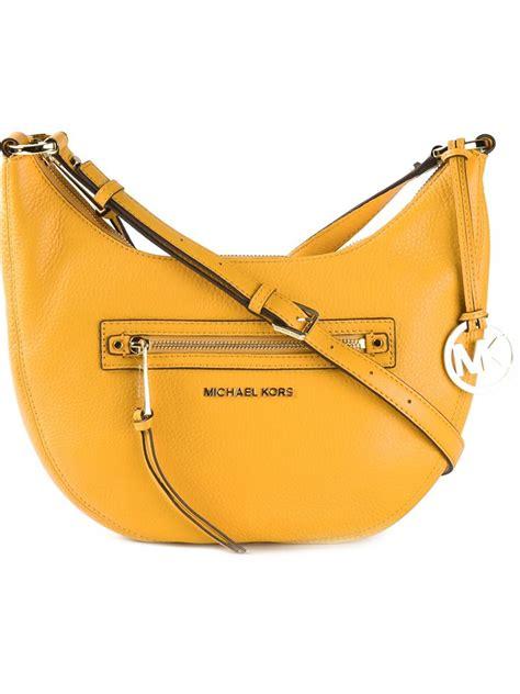 Gryson Shoulder Bag 2 by Michael Michael Kors Half Moon Shoulder Bag In Orange Lyst