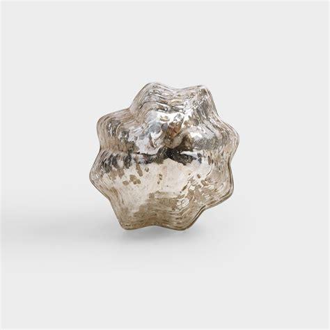 Mercury Glass Knob by Small Mercury Glass Fluted Knobs Set Of 2 World Market