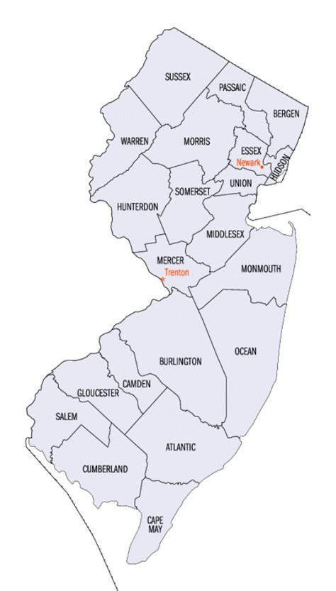printable map jersey new jersey county map