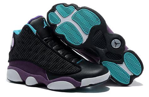 comfortable air comfortable air jordan 13 wool black purple white shoes