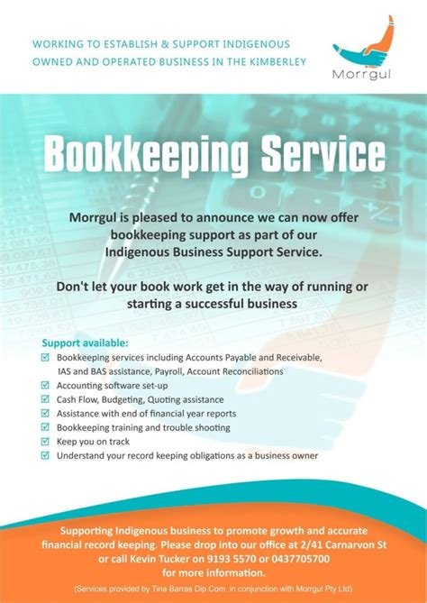 bookkeeping flyer template bookkeeping spreadshee