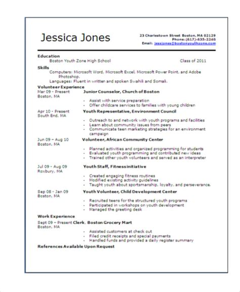 15 teenage resume templates pdf doc free premium