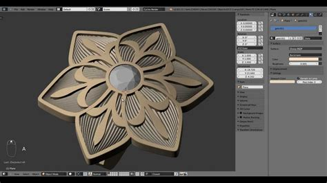 blender 3d jewelry tutorial jewelry design blue flower modelling rendering timelapse