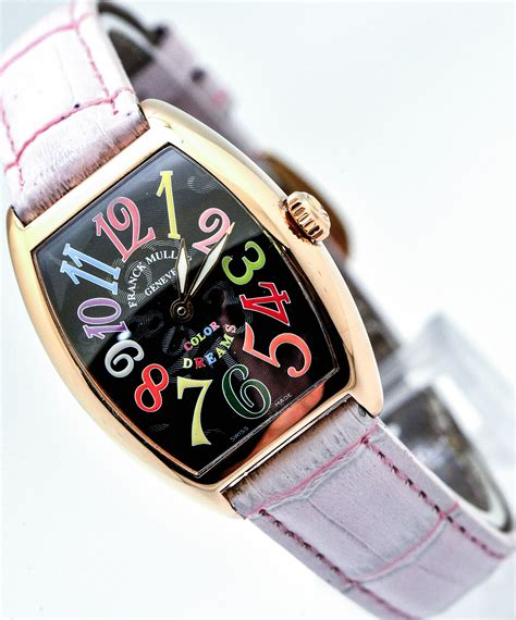 Franck Muller Color Dreams Rosegold Purple Leather franck muller cintr 233 e curvex color dreams wing wah