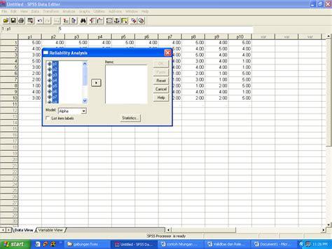 tutorial uji validitas di spss contoh uji validitas dan reliabilitas dengan program spss