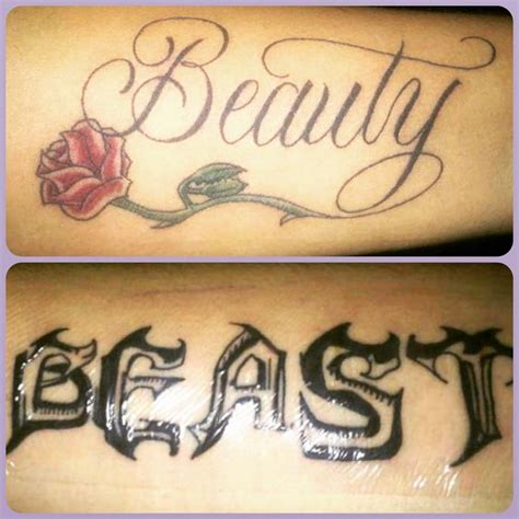 beauty and the beast couple tattoo best 25 best tattoos ideas on