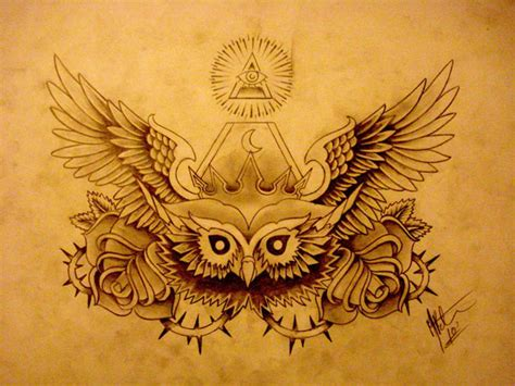 tattoo owl wings chest tattoos and designs page 157