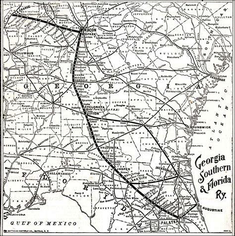 southern florida railroad 1895 map