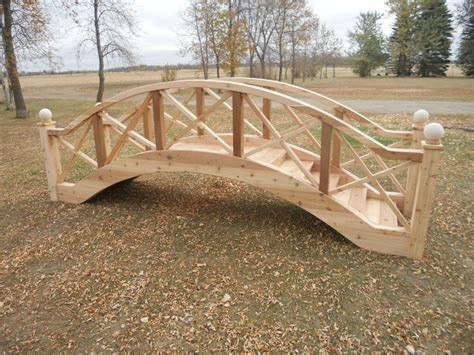 wooden bridge plans garden bridges 4 52ft long elegant wooden landscape