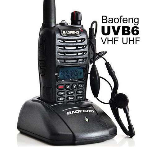 Taffware Walkie Talkie Dual Band Two Way Radio 5w 99ch Uhf Vhf Uv B6 taffware walkie talkie dual band two way radio 5w 99ch uhf vhf uv b6 black jakartanotebook