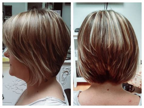 haircuts and highlights near me short sassy a line haircut with beautiful highlights