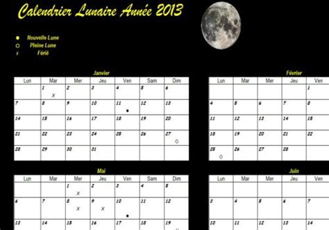 Calendrier Lunaire 2012 T 233 L 233 Charger Calendrier Lunaire 2013 Pour Windows Freeware