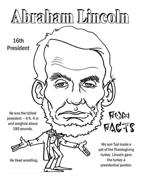 abraham lincoln coloring pages abraham lincoln facts coloring page free printable
