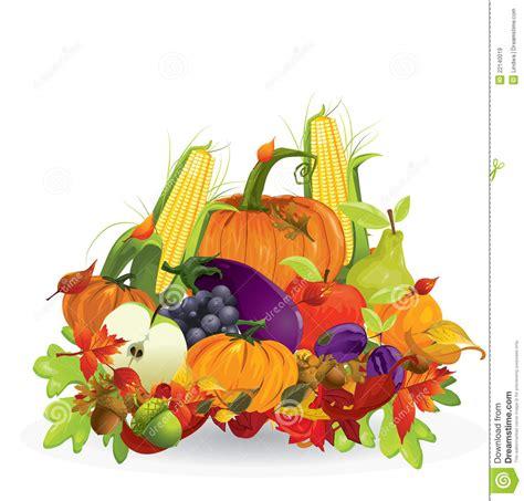 clipart autunno verdura e frutta di autunno illustrazione vettoriale