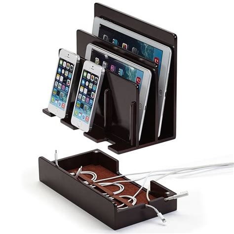 device charging station great useful stuff 168 high gloss cherry multi device