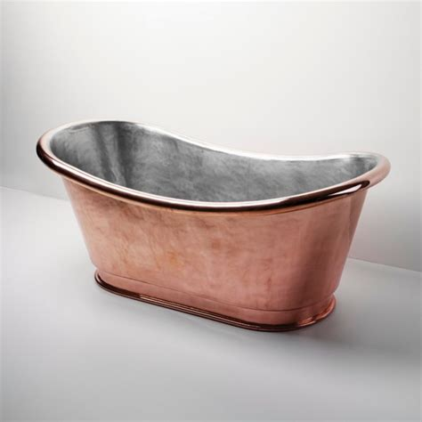 copper bathtub price clothilde freestanding oval copper bathtub traditional