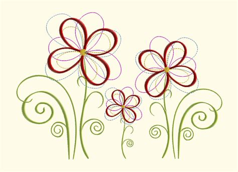 design freebies embroidery flower meadow machine embroidery design a
