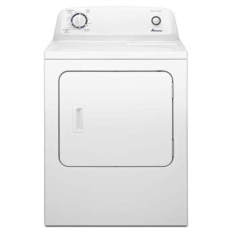 amana 6 5 cu ft electric dryer in white ned4655ew the