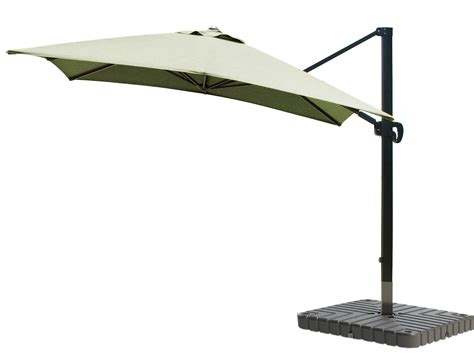 cantilever umbrella aluminum 10 foot square sunbrella