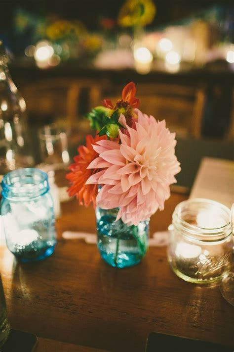 Something Blue: 45 Rustic Blue Mason Jars Wedding Ideas