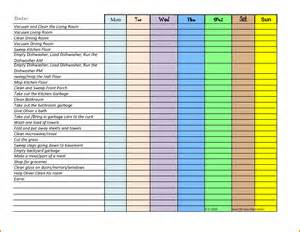 Chore List Template by Pin Chore List Template Excel On