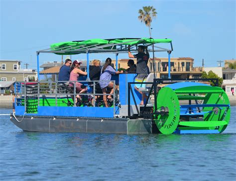 pedal boat bar jacksonville release the kraken ta s first cycleboat cruises along