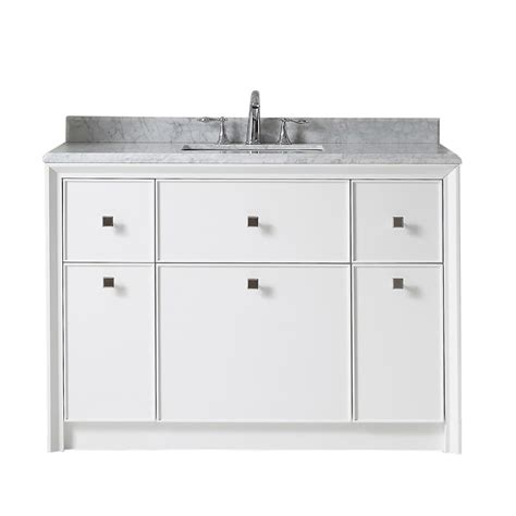 Home Depot Martha Stewart Vanity by Martha Stewart Living Parrish 48 In W X 22 In D Vanity In Bright White With Marble Top In Grey