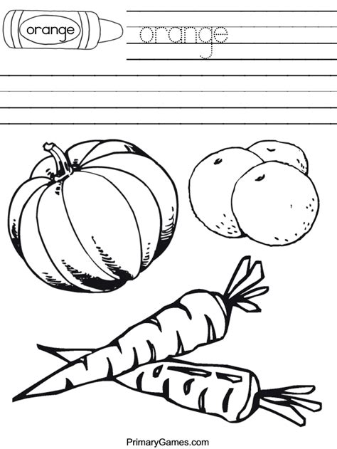 Free Coloring Pages Of Orange Worksheet Orange Coloring Pages
