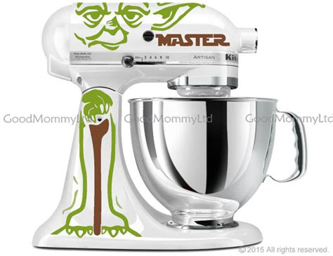 Master Standing Mixer Oxone master yoda decal kit for your kitchenaid stand mixer