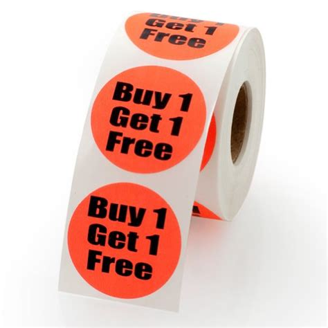 where to buy one buy one get one sale retail pricing labels stickers 1 5